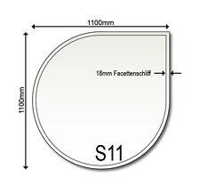 Glasbodenplatte S11 1100 x 1100 mm Kaminplatte Funkenschutz Glas Neu Ofenplatte