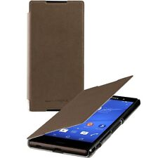 Roxfit Ultra Slim Book Flip Case for Sony Xperia Z3+ (Plus) - Mushroom -SMA5157M