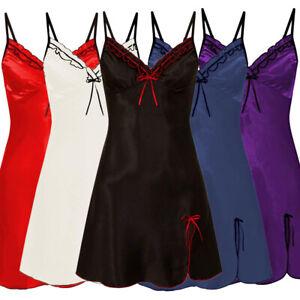 Women Lace Satin Silk Lingerie Dress Babydoll Pajamas Nightwear Sleepwear Robe