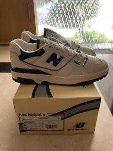 New Balance Aime Leon Dore 550 Oxford White Green Evergreen BB550ALD- Size 9
