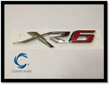 """Genuine Ford Falcon FGX """"XR6"""" Badge. Rear Bootlid/Gate. Silver / Red. AU/BA/BF"""