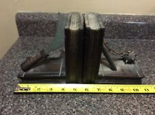 PAIR OF VINTAGE GOTHIC STYLE WOODEN BOOKENDS, BALL & CHAIN DESIGN EUC