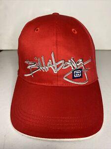 Vintage Billabong Hat Cap Red Adjustable