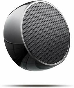 Portable Bluetooth Speakers, Stainless Steel Wireless Speaker with Compact Size