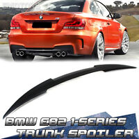 1-Series For BMW E82 M4 Type 2D Coupe Rear Trunk Spoiler Wing 120i 135i 2013