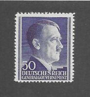 MNH Adolph Hitler stamp 50GR / 1941 issue / Third Reich / Occupied Poland / MNH