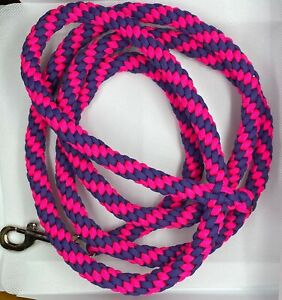 5ft purple and pink crown sinnet paracord dog leash
