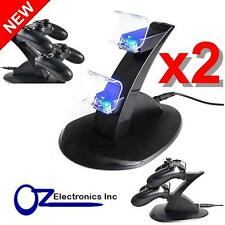 2 x USB Cable Dual PS4 Wireless & Wired controller charging stand FREE SHIPPING