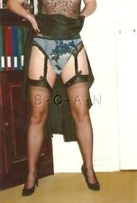 Semi Nude (4 x 6) Color Repro Photo- Woman Lifts Skirt- Shows Panties- Stockings