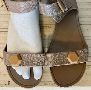 GIVENCHY Tan/beige Pebble Stingray Jelly SANDALS Italy 39