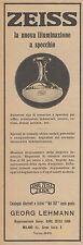Z3322 ZEISS la nuova illuminazione a specchio - Pubblicità d'epoca - 1926 old ad