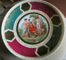 """GORGEOUS PROV SAXE E.S. GERMANY FIGURAL SCENE LARGE WALL CABINET PLATE  11.25"""""""