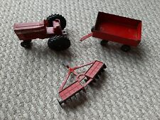 Vintage ERTL 1/32 International Farmall 656 Farm Tractor Implement Set Disc Plow