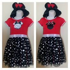 Disney Minnie Mouse dress color changing sequin girls size Large 10/12