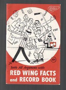ORIGINAL 1960 DETROIT RED WINGS NHL MEDIA GUIDE FACT RECORD BOOK GORDIE HOWE NHL