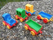 3  Konvolut Sammlung Eisenbahnzug 1x Lok 2x Personenw. 2 Wagon  WADER Eisenbahn
