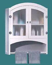 Bathroom Wall Cabinet * W/ Shelf Towel Rack & Magnetic Hardware * Nib