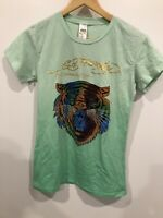 Ed Hardy By Christian Audiger Womens Green Graphic T Shirt Size XL NWT