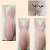 GORGEOUS PHASE EIGHT Pink Pencil Dress UK 14 Wedding Christening Occasion VGC