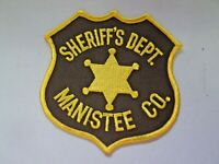 Vintage Sheriff's Dept. Manistee Co. Michigan Police Patch Unused NOS 5938