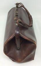 Antique Leather Gladstone Doctors Case or Bag