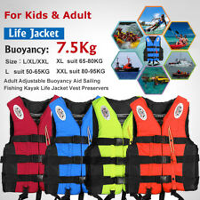 Adult Kids Life Jacket Kayak Ski Buoyancy Aid Vest Sailing Water Sports Swimming