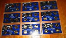 45 State Proof Quarters 1999 2000 2001 2002 03 04 05 06 2007  No Box No Coa