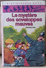 ENID BLYTON LE MYSTERE DES ENVELOPPES MAUV.BIBLIOTHEQUE ROSE PORT A PRIX COUTANT