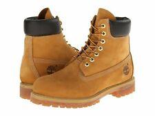 Mens Timberland 6 Inch Premium Nubuck Waterproof Work Boots Wheat 10061 Size 16