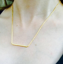 Horizontal Bar Necklace Gold Bar Pendant Necklace