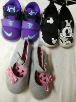 Lot of 3 Pairs of Baby girls's Shoes NIKE MICKEY MOUSE DISNEY sz 5-7