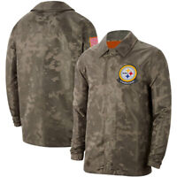 Pittsburgh Steelers Jacket Salute to Service Sideline Coat Casual Breasted Top