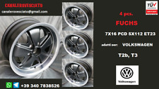 4 Cerchi Fuchs Nero 7x16 5x112 vw BULLI Transporter T2 T3 Wheels Felgen Llantas