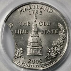 2000 D PCGS MS63 15% Double Clips Maryland Quarter Major Mint Error Rare