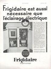 ▬► PUBLICITE ADVERTISING AD FRIGIDAIRE 1931 General Motors