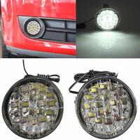 2pc 12V 18LED Round Car Fog Lamp Driving DRL Daytime Running Bright White Light!