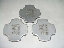peugeot alloy wheel centre caps x3   9612504680