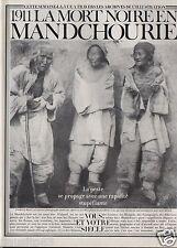 Coupure de presse Clipping 1982 1911 la peste noire en Mandchourie  (4 pages)