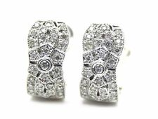 14 KT WHITE GOLD VINTAGE STYLE EARRING WITH 0.60 CT DIAMONDS
