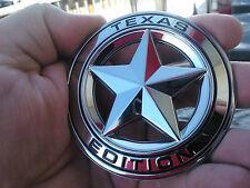 1x OEM Chrome Texas Edition Emblem Badge Tacoma Tundra Ford Chevy Dodge TRD