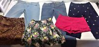 Womens size 7-8 blue jeans skirt shorts wholesale mixed lot 6 tommy hilfiger x59