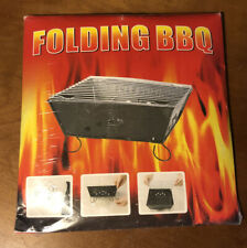 Portable Folding Barbecue Grill Bbq Outdoor Camping Charcoal Cooking Picnic
