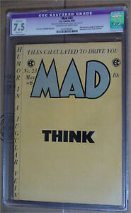 EC Comics Mad 23 May 1955 CGC 7.5 Restored CREAM TO OFF WHITE Pages Comic Book