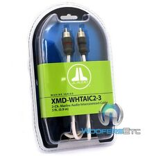 JL AUDIO XMD-WHTAIC2-3 3-FT 2-CHANNEL MARINE BOAT WIRE RCA JACK AUDIO CABLE NEW
