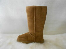 SHEEPSKIN UGG BOOTS Outdoor Sole Tall Men Size 3/Lady Size 5 Colour Chestnut