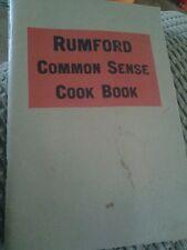 RUMFORD COMMON SENSE COOK BOOK