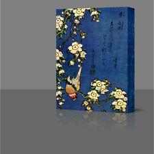 """Hokusai Pardillos & Cerezo Grandes Lienzo Enmarcado Arte Impresión De Imágenes 16"""" Japón"""