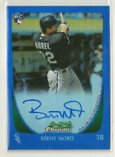 Brent Morel 2011 Bowman Chrome BLUE Refractor RC Auto /250 - WHITE SOX / PIRATES