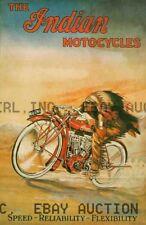 Vintage early Indian Motorcycle Hedstrom Bike Hendee ca 8 x 10 print poster