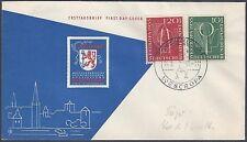 Germany 1955 Sc B342 3 On Fdc